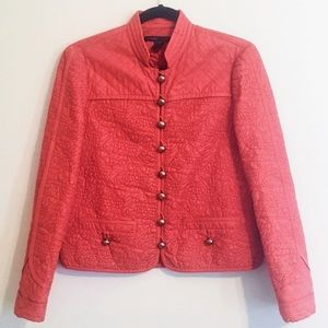 Marc Jacobs Quilted Jacket Blazer Owl Print